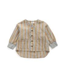 BREEZE/ノーカラーカーデシャツ/502878916