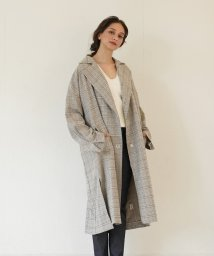 FIKA./FIKA. Back design check coat/503075714