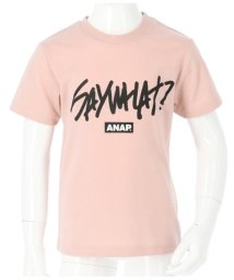 ANAP KIDS/手書きメッセージロゴプリントTシャツ/503091766