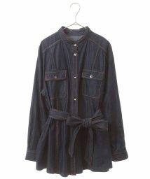 HIROKO BIS/【洗濯機で洗える】ソフトデニムオーバーシャツ/503091906