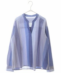 HIROKO BIS/【洗濯機で洗える】マルチストライプシャツブラウス/503091909