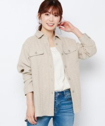 AIRPAPEL/【ハンドウォッシュ】麻ヘリンボンシャツジャケット/503092524