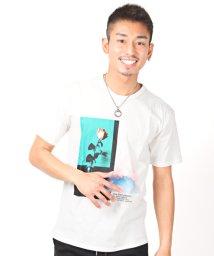LUXSTYLE/プリント半袖Tシャツ/Tシャツ メンズ 半袖 プリント 花 スカル 綿100%/503092617