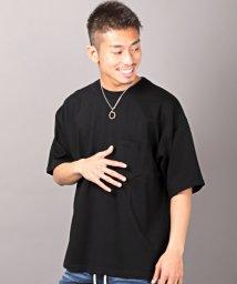 LUXSTYLE/BIGシルエット無地Tシャツ/Tシャツ メンズ 半袖 ビッグシルエット ポケット 無地/503092620
