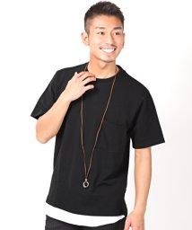 LUXSTYLE/フェイクレイヤードTシャツ/Tシャツ メンズ 半袖 シアサッカー 無地 フェイクレイヤード/503092621