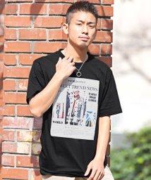 LUXSTYLE/プリントBIG半袖Tシャツ/Tシャツ メンズ 半袖 ロゴ プリント フォト ビッグシルエット/503092624