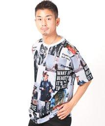 LUXSTYLE/BIGTシャツ/Tシャツ メンズ 半袖 ビッグシルエット ガールズフォト コラージュ プリント/503092625
