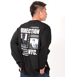 LUXSTYLE/バックデザインプリントBIGロンT/長袖Tシャツ メンズ ロンT フォトプリント ロゴ 裏毛 BITTER ビター系/503092627