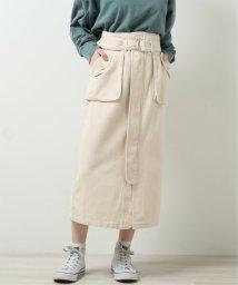 DOUBLE NAME/アウトポケットナロースカート/503093141