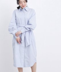 ADAM ET ROPE'/【GANNI】 Stripe Cotton Shirts Dress/503093568