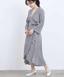 ADAM ET ROPE'/【GANNI】PRINTED CREPE WRAP DRESS/503093569