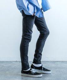 Rocky Monroe/スキニーパンツ メンズ 黒 ストレッチ デニム 伸縮性 細身 スリム ヴィンテージ ユーズド カジュアル ジーパン 無地 8544/503094509