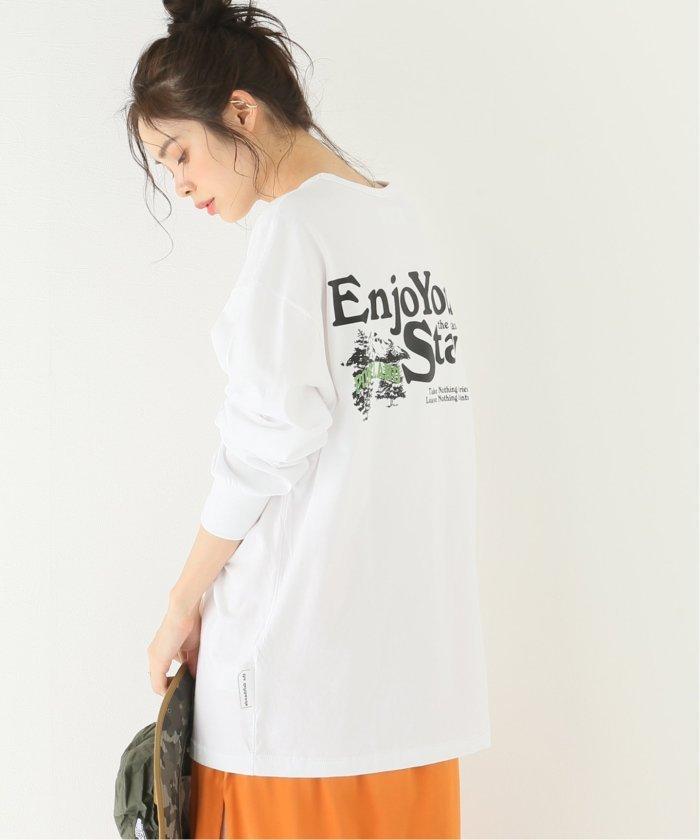 ジャーナルスタンダード ENJOY YOUR STAY LONG SLEEVE:Tシャツ レディース ホワイト L 【JOURNAL STANDARD】