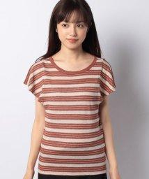 BENETTON (women)/ラッフルスリーブラメ混ボーダーTシャツ・カットソー/503067891