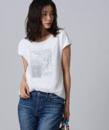 UNTITLED/【洗える】シフォン天竺グラフィックTシャツ/503094892