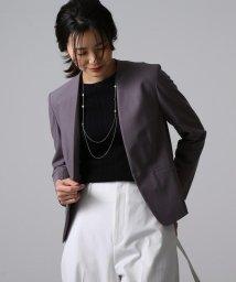 UNTITLED/[L]【洗える】カラーレスジャケット/503094901