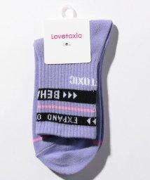 Lovetoxic/3ライン×ロゴリブクルーソックス/503076014