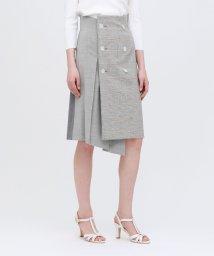 LOVELESS WOMEN/チェックブロッキング ラップスカート/502890593