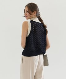 FIKA./JILKY Various Braided Knit Vest/503075742