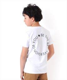 GLAZOS/天竺・バックサークルプリントロゴ半袖Tシャツ/503092691