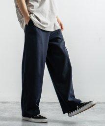 Rocky Monroe/ワイドパンツ メンズ TR ストレッチ 伸縮性 ワンタック 無地 チェック シンプル キレイめ カジュアル ストリート スーツ地 8898/503094525