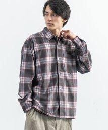 Rocky Monroe/ビッグシャツ メンズ レディース 長袖 コーデュロイ シンプル 無地 カジュアル ビッグシルエット ボックス ドロップショルダー オーバーサイズ キレイめ スト/503094528