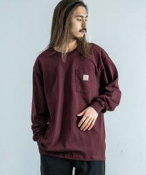 Rocky Monroe/CARHARTT カーハート Tシャツ 長袖 メンズ ロンT 無地 ポケット ワークウェア ルーズシルエット ビッグ オーバーサイズ ドロップショルダー クルー/503094633