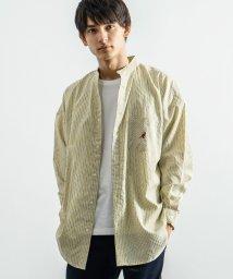 Rocky Monroe/KANGOL カンゴール バンドカラーシャツ メンズ レディース ユニセックス 長袖 スタンド ノーカラー ロゴ 刺繍 ビッグシルエット オーバーサイズ ルーズ/503094635