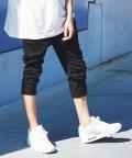 Rocky Monroe/ジョガーパンツ サイドライン メンズ スウェット 7分丈 クロップドパンツ イージー 裾リブ ウエストゴム 無地 7529/503094730