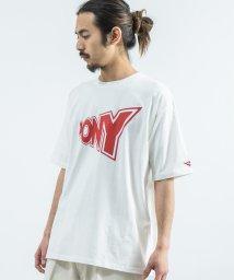 Rocky Monroe/PONY ポニー 半袖Tシャツ メンズ レディース ユニセックス プリント ブランドロゴ エンボス加工 ボックス さがら刺繍 ビッグシルエット 米綿 USAコッ/503107702