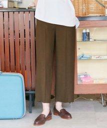 J.PRESS LADIES/【洗える】アイアスソフトクロス ワイドパンツ/503107779