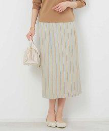 Rouge vif la cle/RIOPELEストライプタイトスカート/503108146