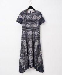 GRACE CONTINENTAL/ライン刺繍ワンピース/503108380