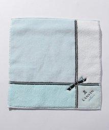LANVIN en Bleu/リボン刺繍タオルハンカチ/503022892