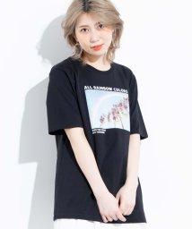 WEGO/レインボーフォトプリントTシャツ/503062121