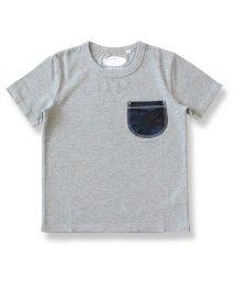 charmy/迷彩デニムポケットTシャツ/503080337