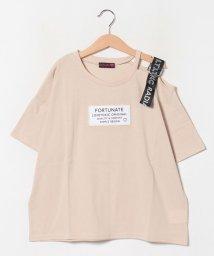 Lovetoxic/ワンショルダーロゴテープTシャツ/503082575