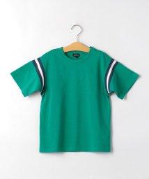 green label relaxing (Kids)/AHラインリブロゴプリントビッグTシャツ/503087956