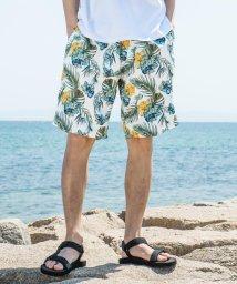 Rocky Monroe/サーフパンツ 水着 メンズ 海パン スイムショーツ 海水パンツ 水陸両用 サコッシュ付き 2点セット ショートパンツ メッシュ裏地 速乾 総柄 カモフラ 迷彩 /503108332