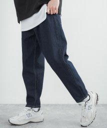 Rocky Monroe/デニムパンツ メンズ 10oz オンス ワイド バギー テーパード 無地 シンプル カジュアル 綿 コットン ジーパン ジーンズ ストリート 7907/503108335