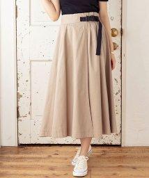 GROWINGRICH/[スカート]ベルト付きラップ風フレアスカート[200148]/503108458
