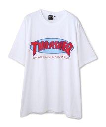 LHP/THRASHER/スラッシャー/スーパービッグサイズロゴプリントTシャツ/OVAL MAG LOGO/503108526