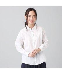 +nokto/シャツ カジュアル 長袖 形態安定 ガーゼ レギュラー衿 綿100% レディース/503109201
