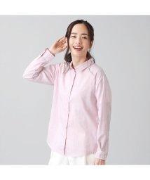 +nokto/シャツ カジュアル 長袖 形態安定 ガーゼ レギュラー衿 綿100% レディース/503109202