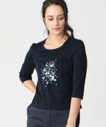 TO BE CHIC/スーピマコットンポンチモチーフTシャツ/502865185