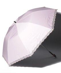 """LANVIN Collection(umbrella)/LANVIN COLLECTION 晴雨兼用折りたたみ傘 """"オーガンジー ローズカットワーク""""/502931692"""