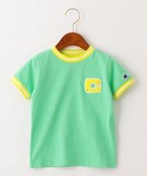 green label relaxing (Kids)/【キッズ】〔別注〕CHAMPION(チャンピオン)リンガーショートスリーブTシャツ/503092527
