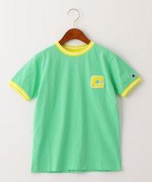 green label relaxing (Kids)/【ジュニア】〔別注〕CHAMPION(チャンピオン)リンガーショートスリーブTシャツ/503092528