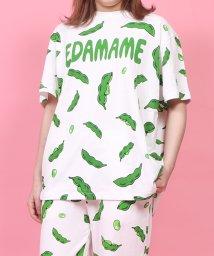 PUNYUS/フード総柄Tシャツ/503094103