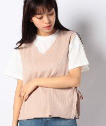 INGNI/12Gサイドリボンベスト+TシャツSET                   /503094382